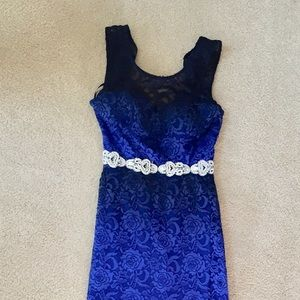 Royal Blue Beaded Gown